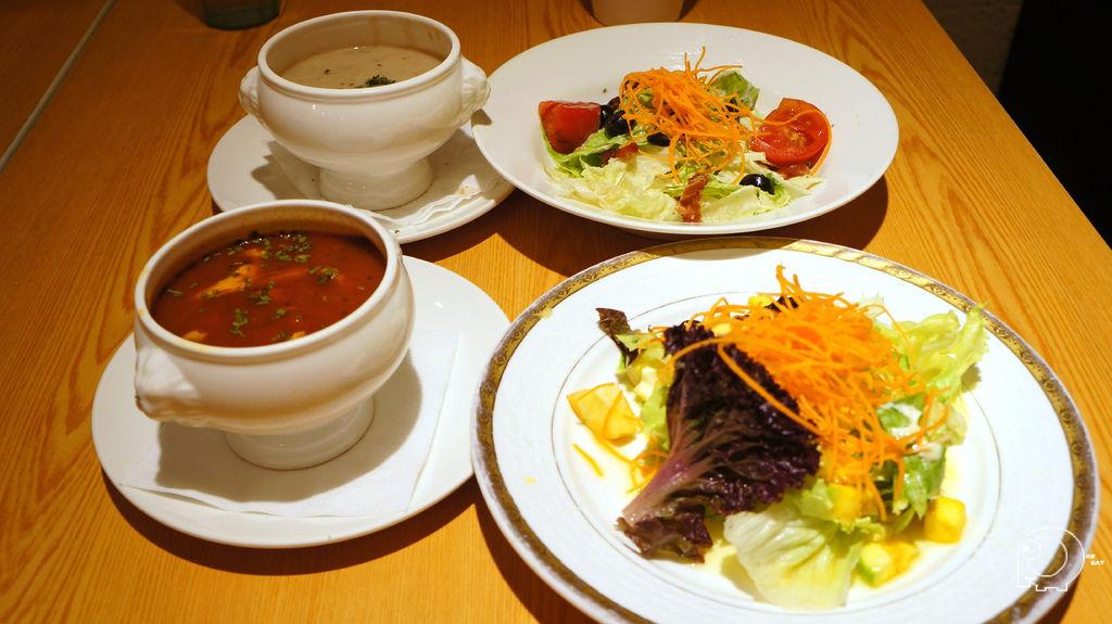 沙拉、濃湯
