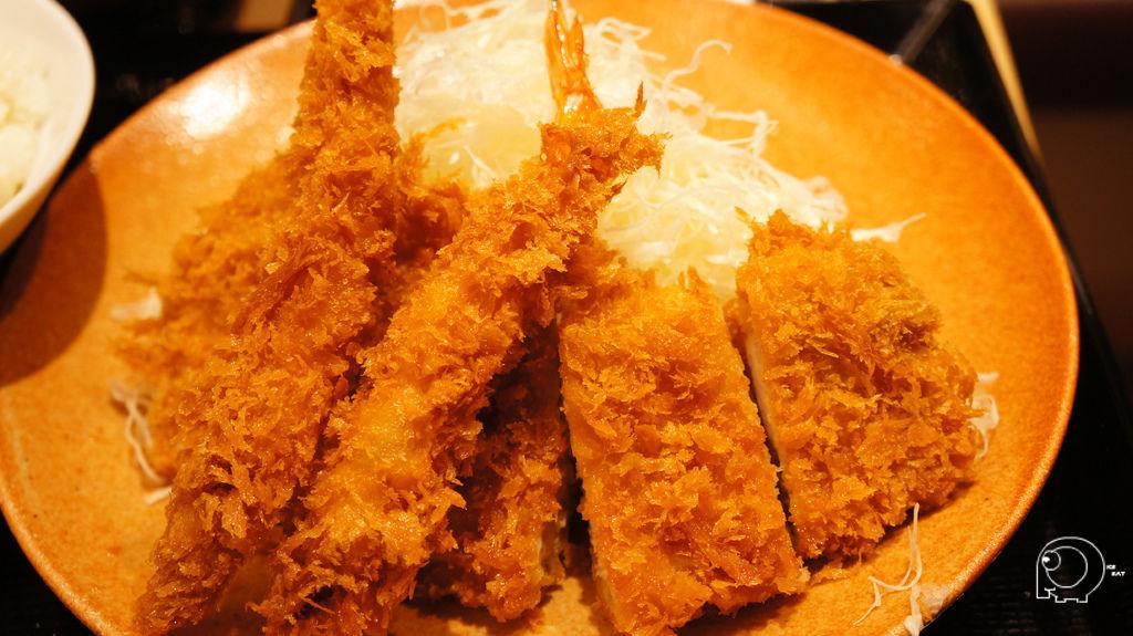 海老里肌豬排定食