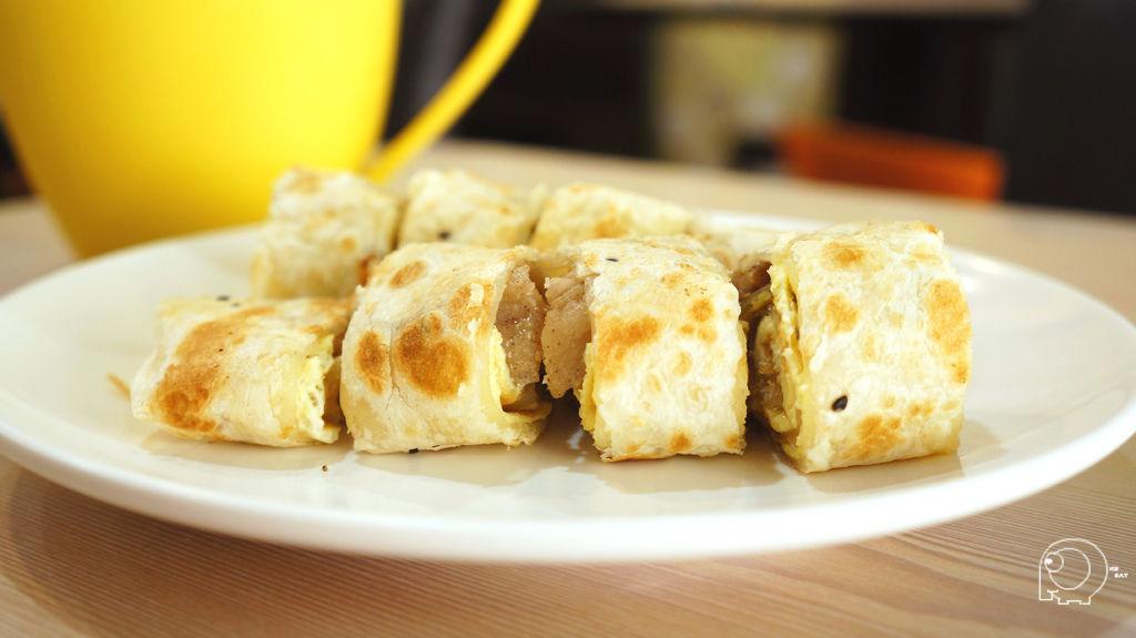 岩椒燒肉厚酥蛋餅&紅茶