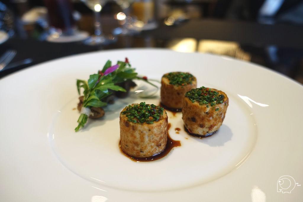 螯蝦玉米雞襯油封四味沙拉