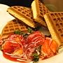 草莓奶油鬆餅