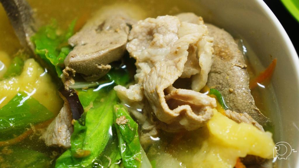 瘦肉麵疙瘩加豬肝