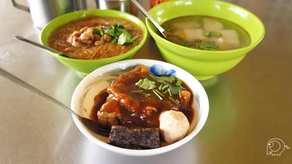 甜不辣小&大腸麵線小&菜頭湯