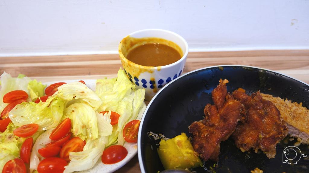 豬排咖哩&唐揚炸雞