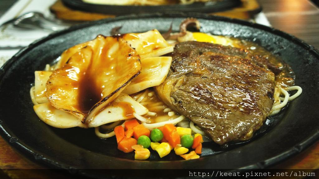台灣花枝加沙朗牛排