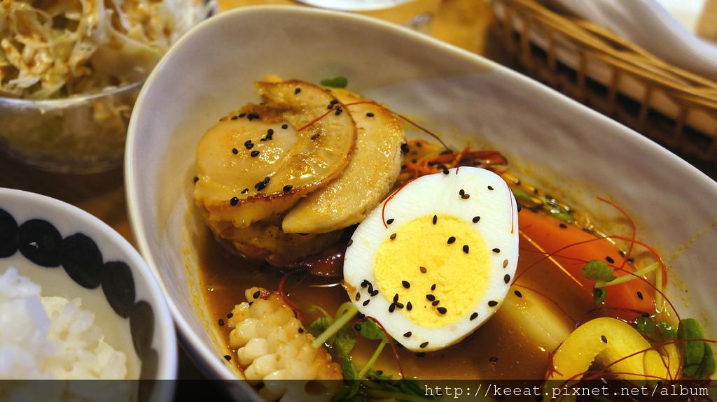 北海道帆立貝鮮蝦湯咖哩