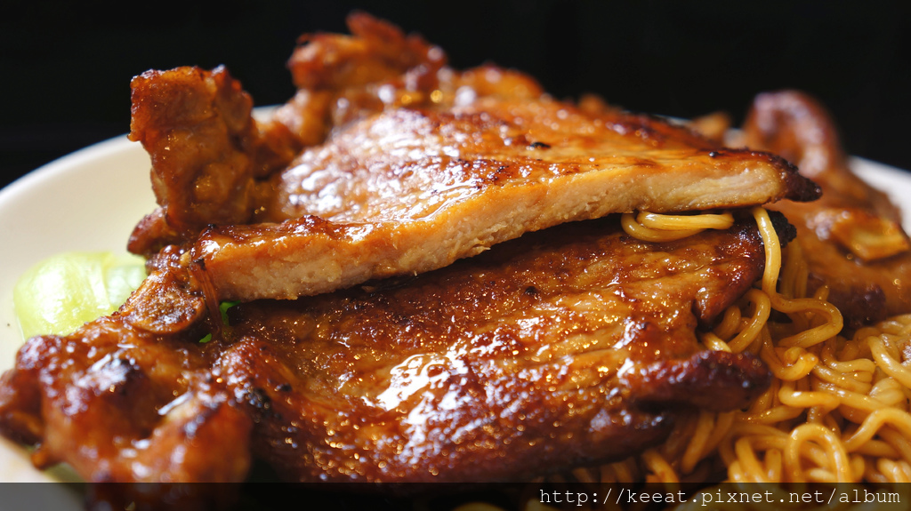 XO醬豬排撈公仔麵