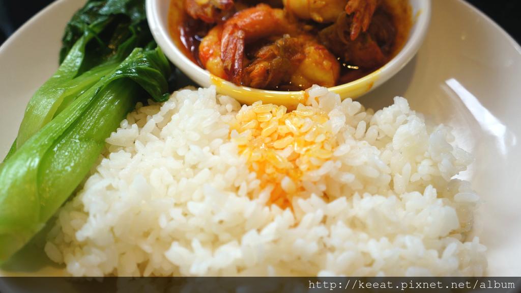 咖哩鳳尾蝦飯