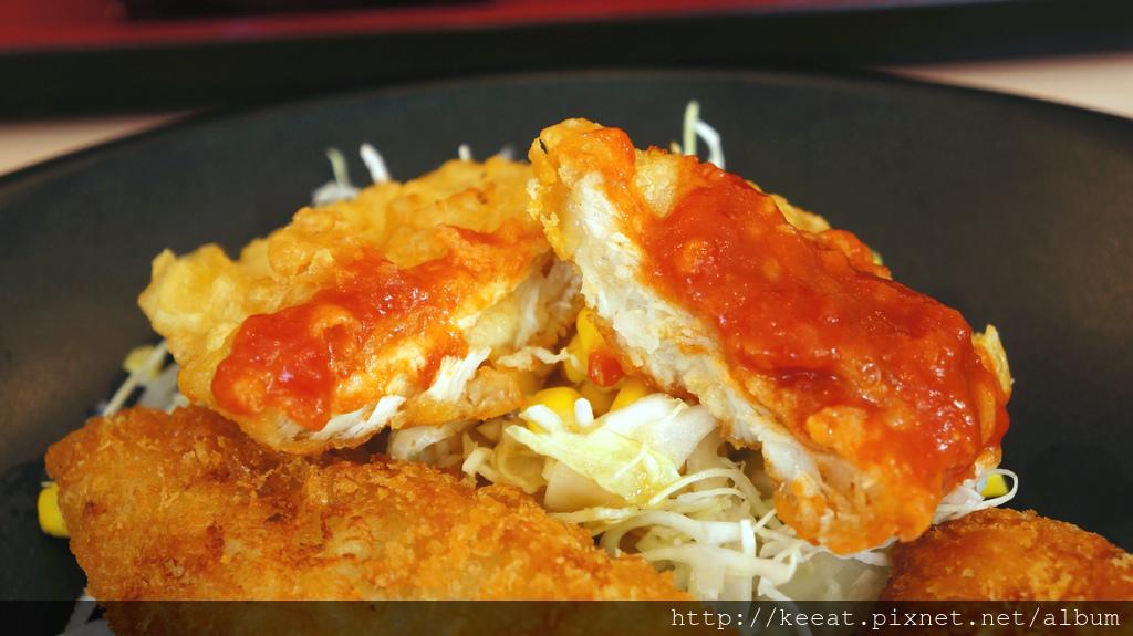 炸雞排魚排天婦羅雞膳