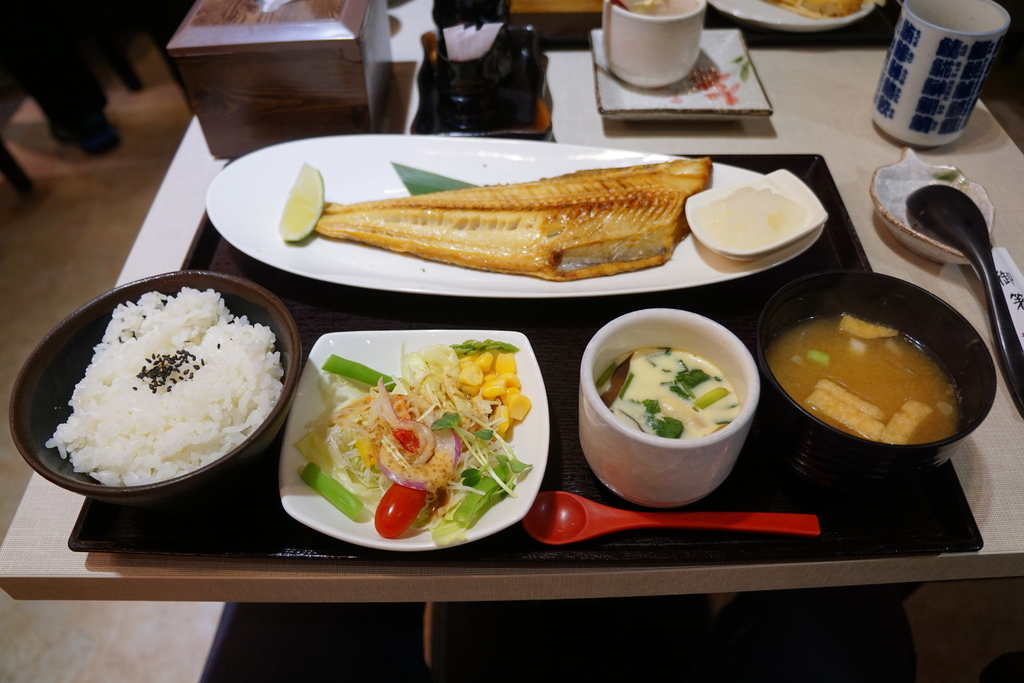 烤北海道花魚定食