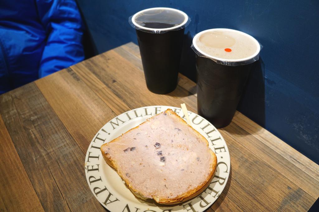 紅茶&紅茶豆漿&藍莓乳酪厚片