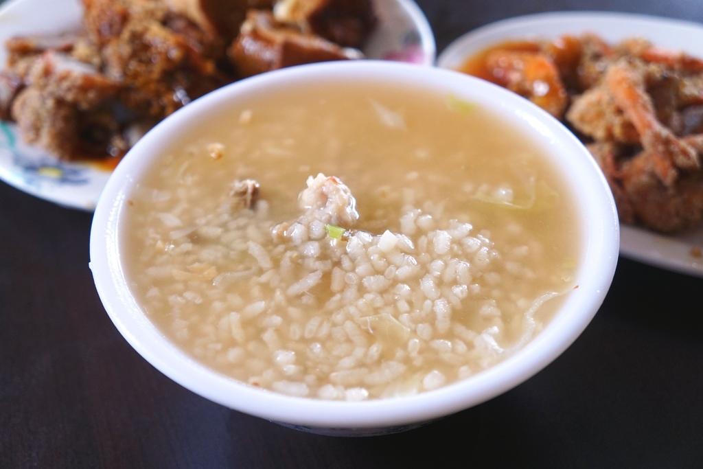 香菇赤肉粥&小菜
