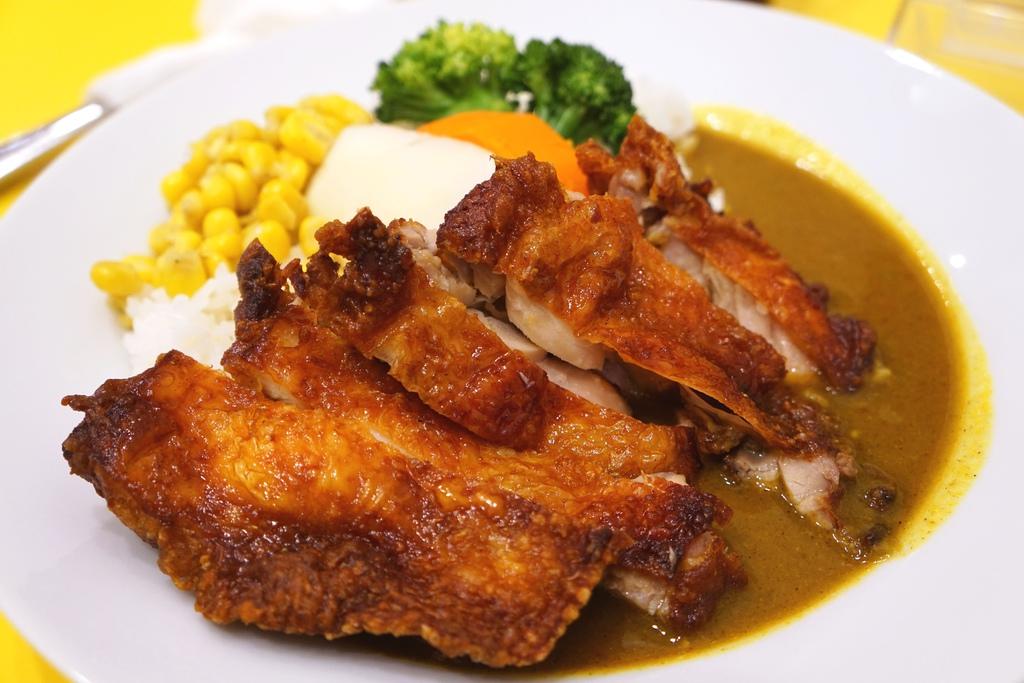 香酥炸雞腿排印度咖哩