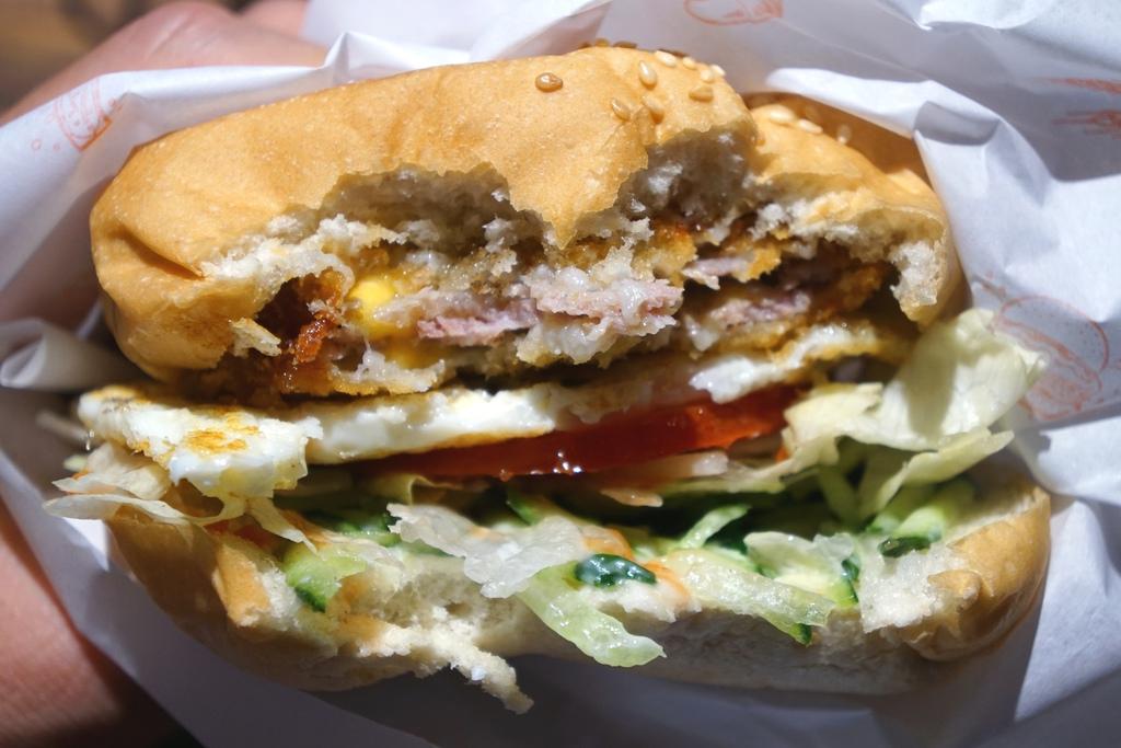 藍帶豬排漢堡