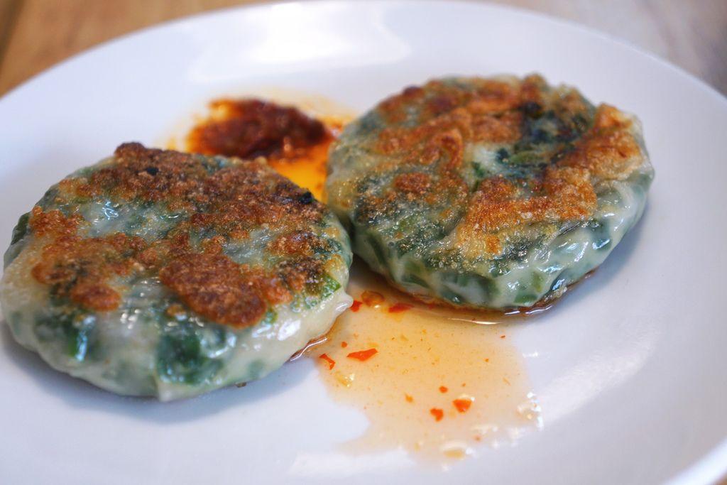 韭菜海鮮餅