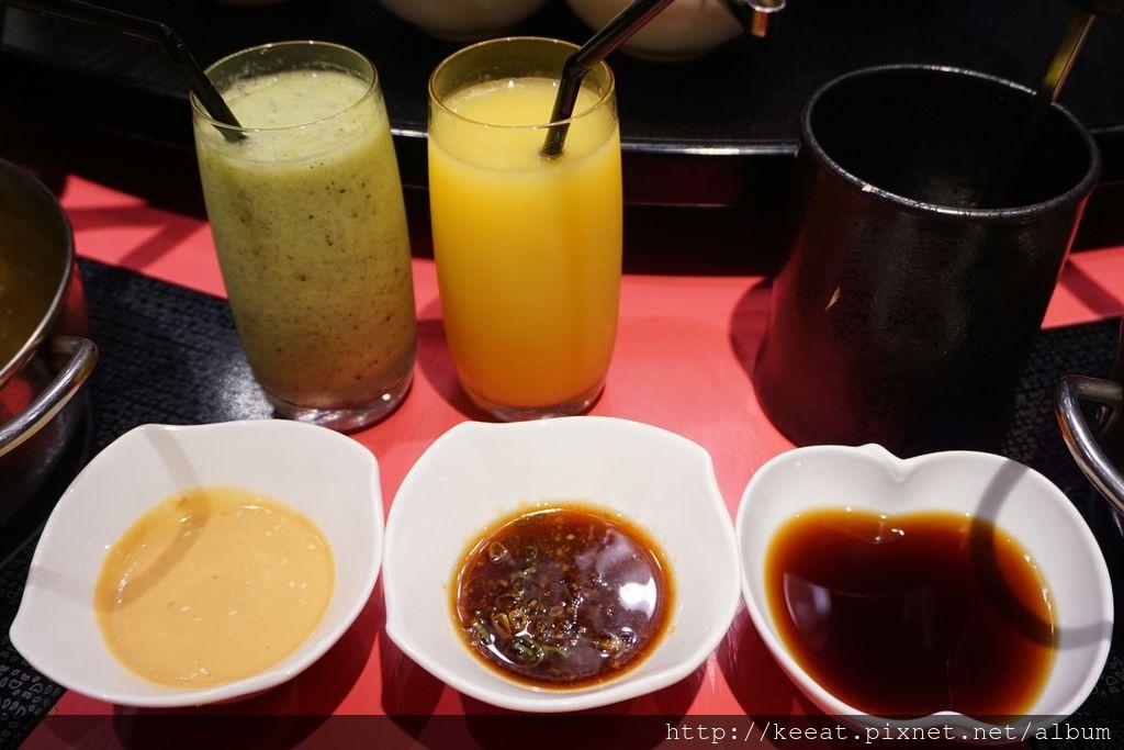 沾醬&果汁
