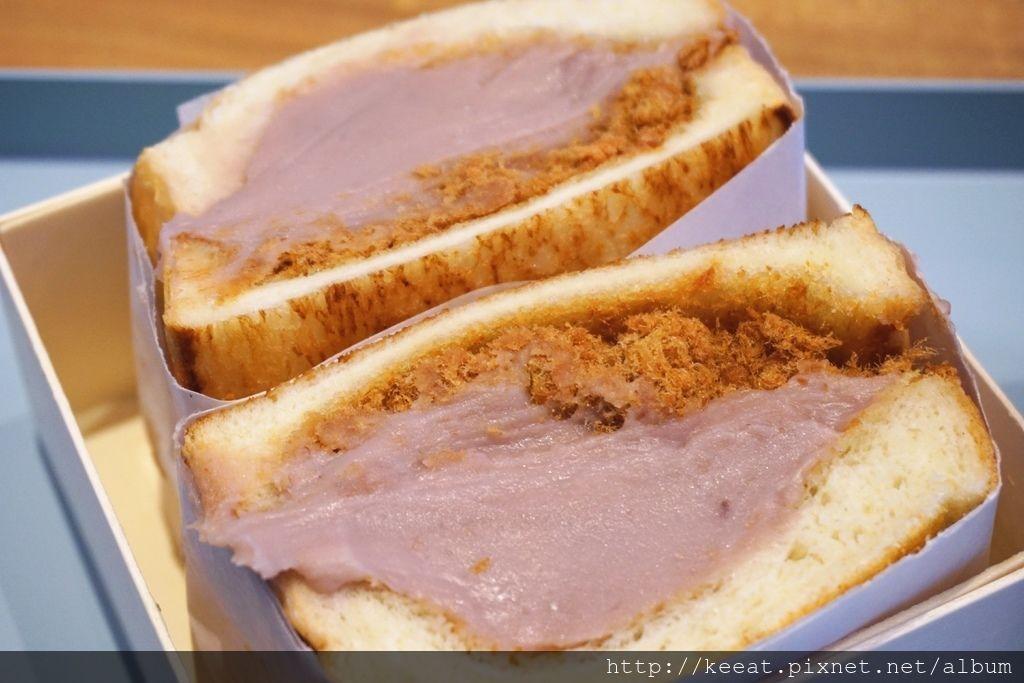 芋泥肉鬆三明治