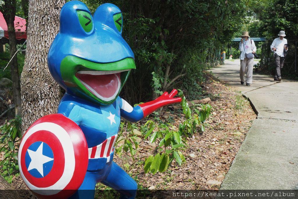 迎賓美國超人青蛙