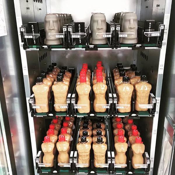 限量「台南摩艾像飲料」販賣機也能買到