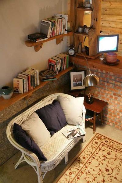舒服的看書角落。