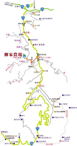 柳家梅園路線圖