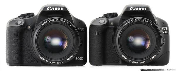 500D VS 550D