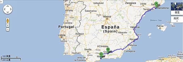 巴塞隆納→格拉納達→馬拉加