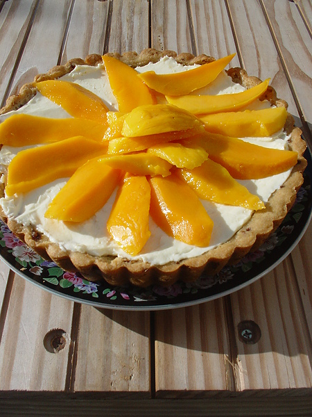 Mango cream cheese tart