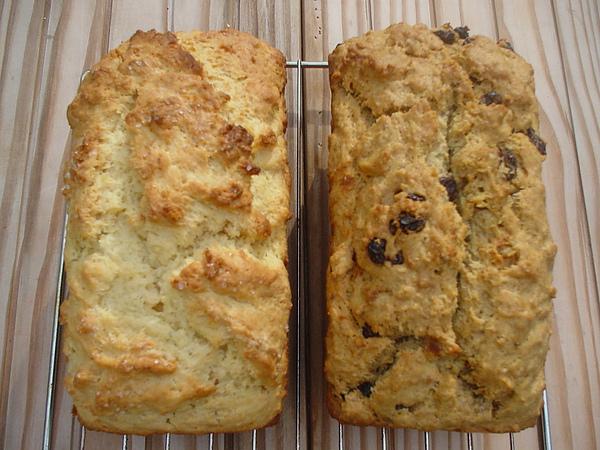 coconut loaf & wholemeal raisin loaf