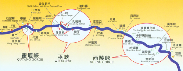 map of ChangJiang River route