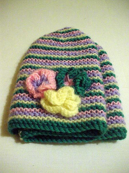 hand-knitten hat