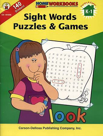 (1) SIGHT WORDS PUZZLES & GAMES - COVER