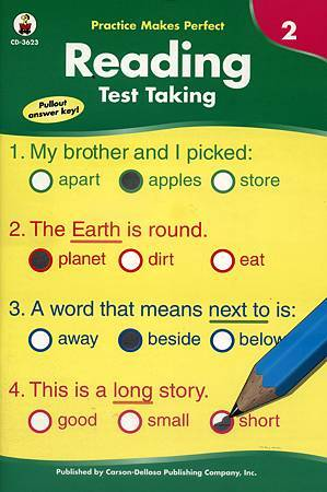 (3) PRACTICE MAKES PERFECT READING TEST TAKING - COVER