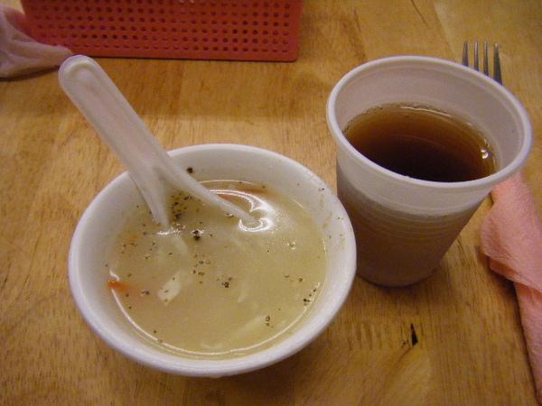 濃湯及紅茶