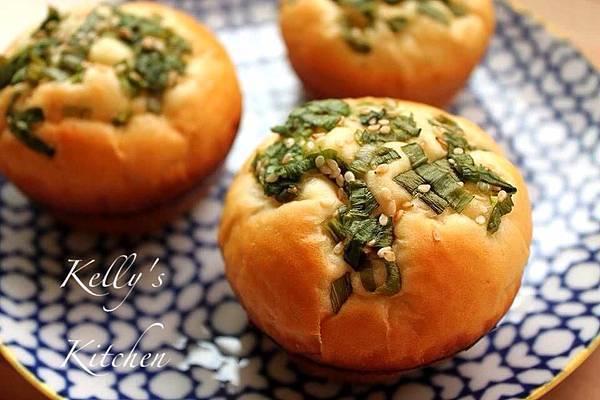 20140212午茶蔥花肉鬆麵包
