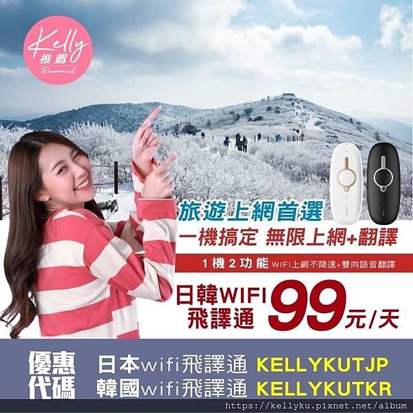 飛買家日本韓國wifi飛譯通優惠碼折扣代碼上網翻譯99元