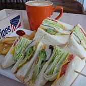 煎恰恰青菜三明治