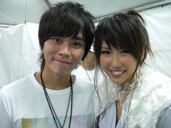 me and make up artist 很厉害的化妆师:)