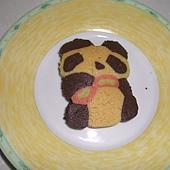 圍巾小熊餅乾
