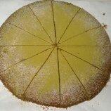 撒上糖粉及綠茶粉後的『抹茶蛋糕』