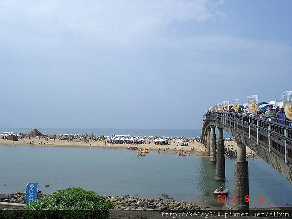 福隆到沙灘要過條橋