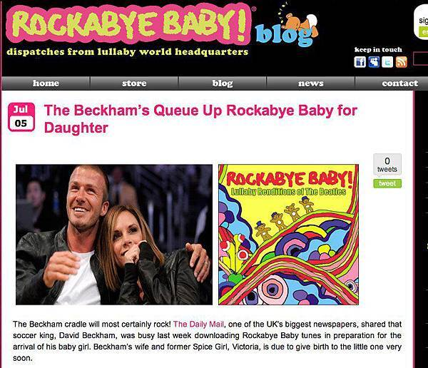 The Beckham's Queue Up Rockabye Baby for Daughter | Rockabye Baby!.jpg