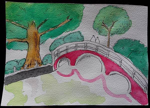 不透明水彩-台中公園