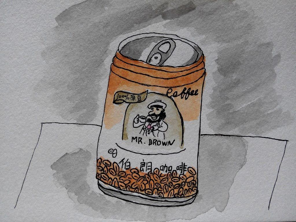 水彩 | 罐裝伯朗咖啡2