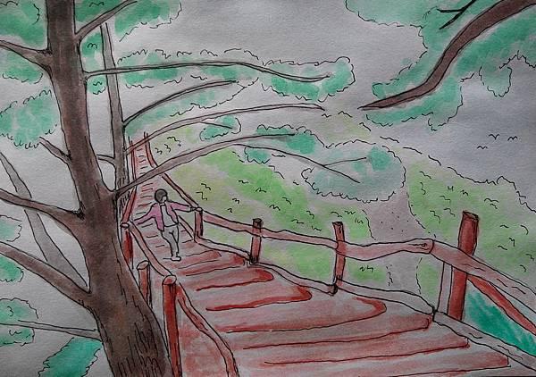 水彩 | 台中大坑登山步道