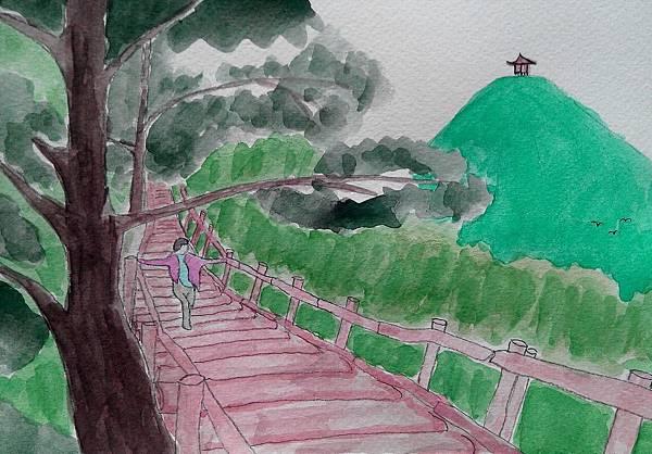 水彩 | 大坑登山步道