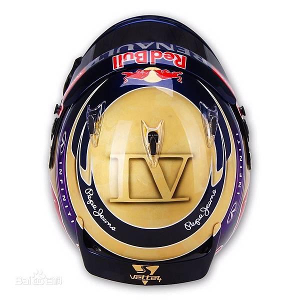 Sebastian Vettel的四連霸紀念安全帽