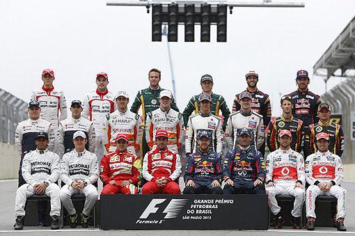 2013 F1 車手合體照