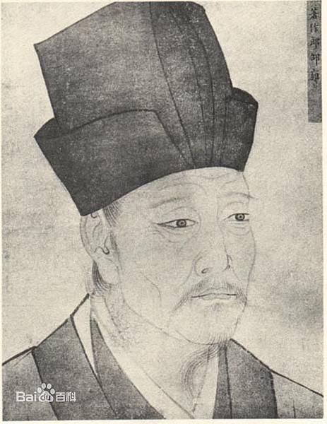 北宋哲學家-邵雍先生畫像