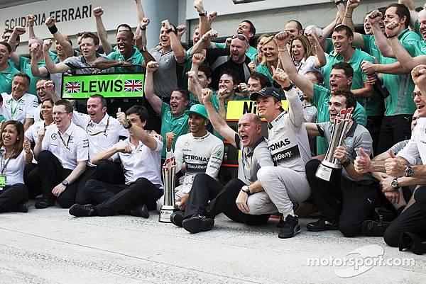 2014 F1車隊總冠軍-Mercedes車隊